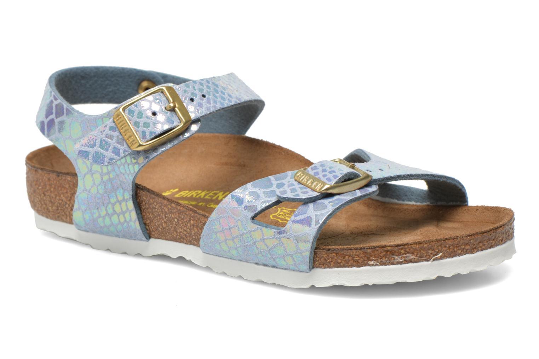Sandaler Birkenstock Rio Birko Flor Blå detaljeret billede af skoene