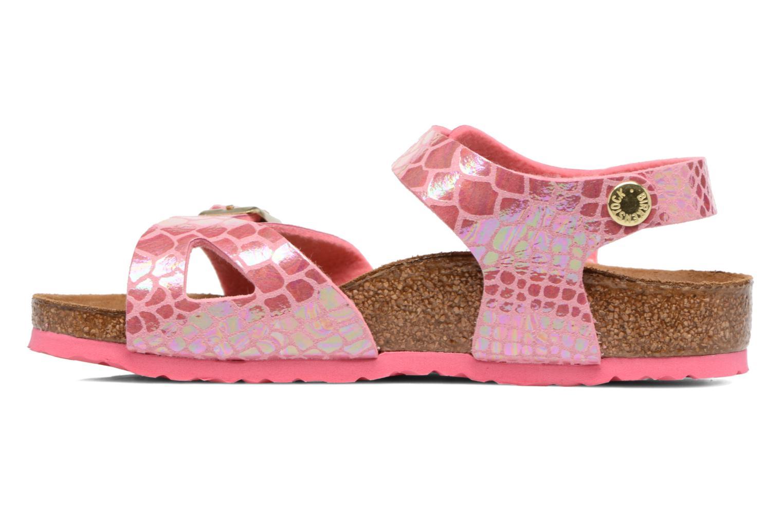 Rio Birko Flor Shiny Snake Pink