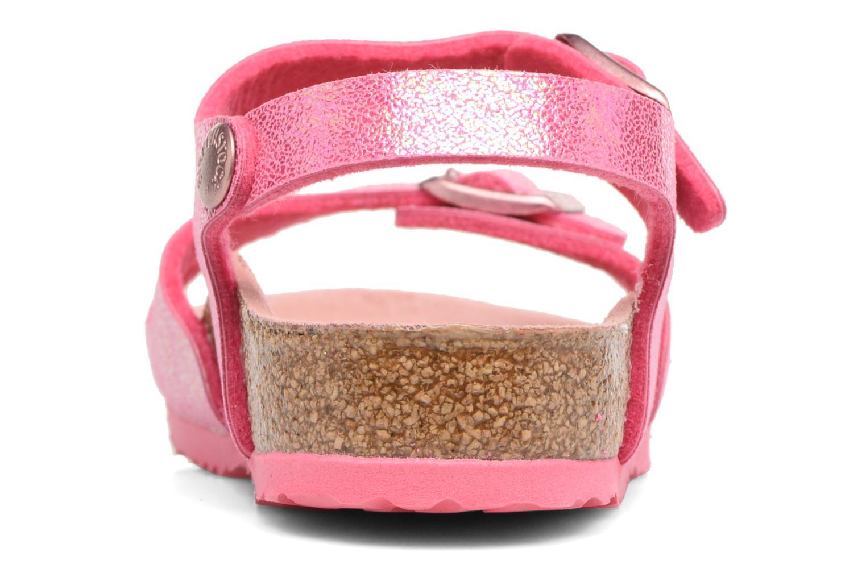 Sandaler Birkenstock Rio Birko Flor Pink Se fra højre