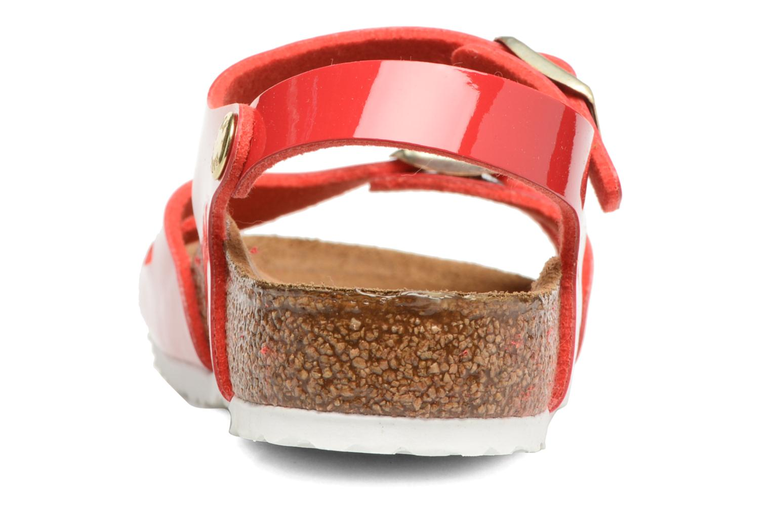 Sandals Birkenstock Rio Birko Flor Red view from the right