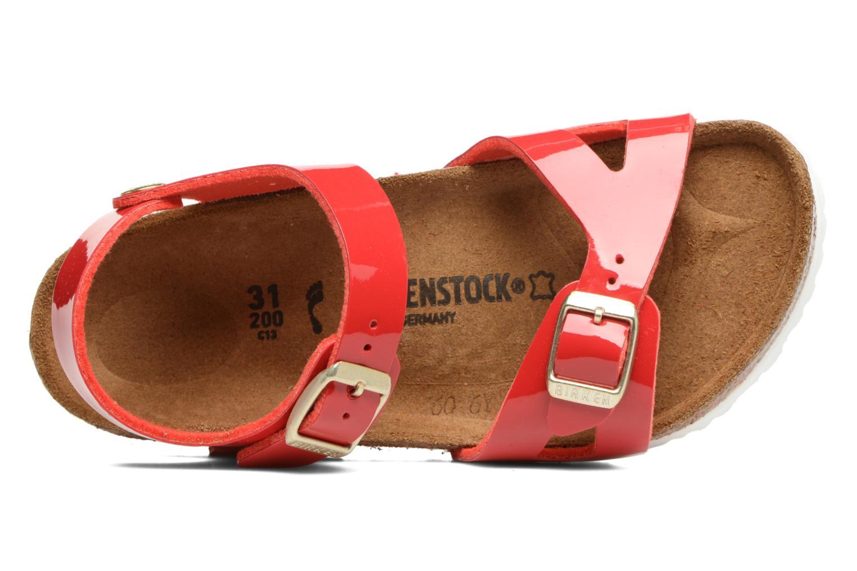 Sandaler Birkenstock Rio Birko Flor Rød se fra venstre