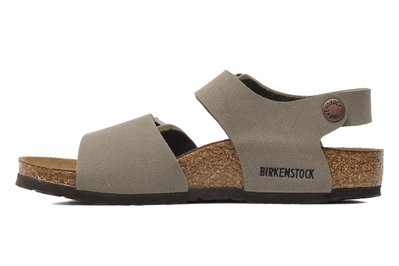 Sandalen Birkenstock New York Birko Flor grau ansicht von vorne