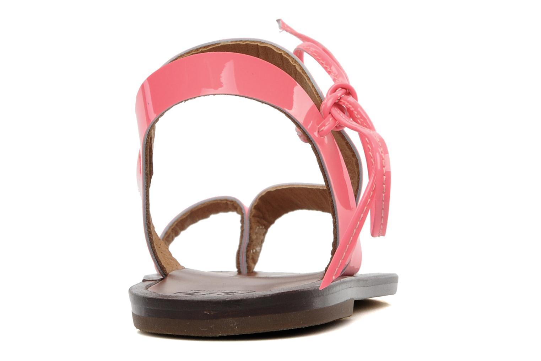 Sandales et nu-pieds PèPè Blog Rose vue droite