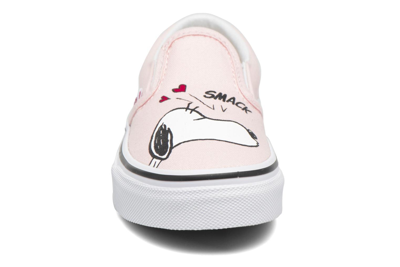 Baskets Vans Classic Slip-On E Rose vue portées chaussures