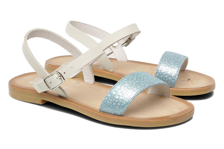 Sandals start rite classics Flora Blue 3/4 view