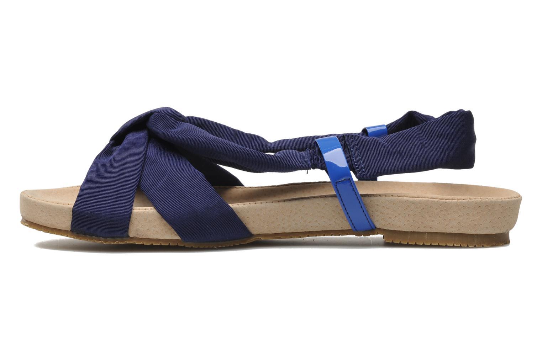 Sandalen Ruby Brown Rachel blau ansicht von vorne