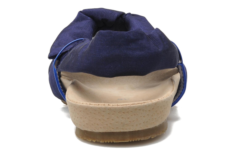 Sandalen Ruby Brown Rachel blau ansicht von rechts