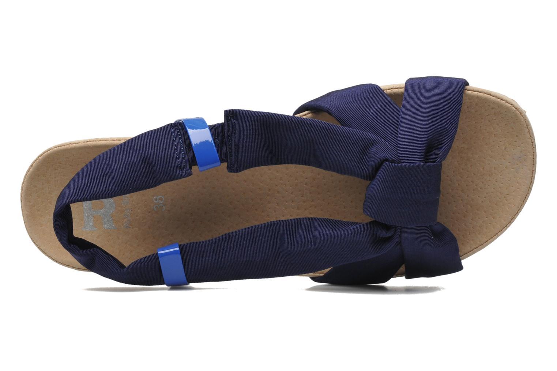 Sandalen Ruby Brown Rachel blau ansicht von links