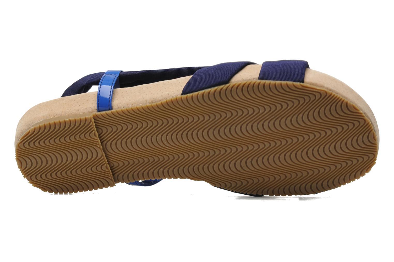 Sandalen Ruby Brown Rachel blau ansicht von oben