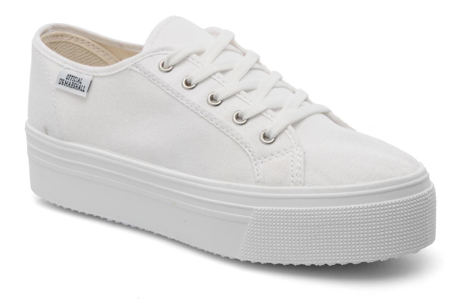 Baskets US Marshall Game Blanc vue détail/paire