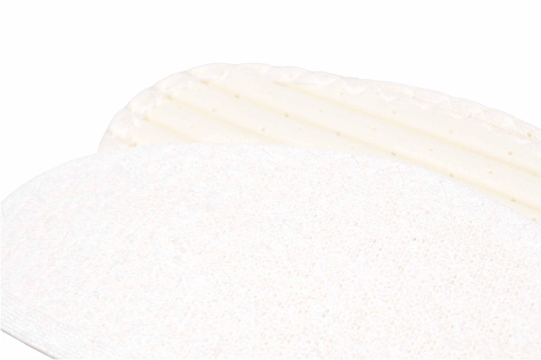 Semelles Famaco Semelle coton Tropicale Femme Blanc vue derrière