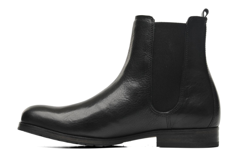 Bottines et boots Royal Republiq Ave Cross Chelsea Boot Tweed Noir vue face