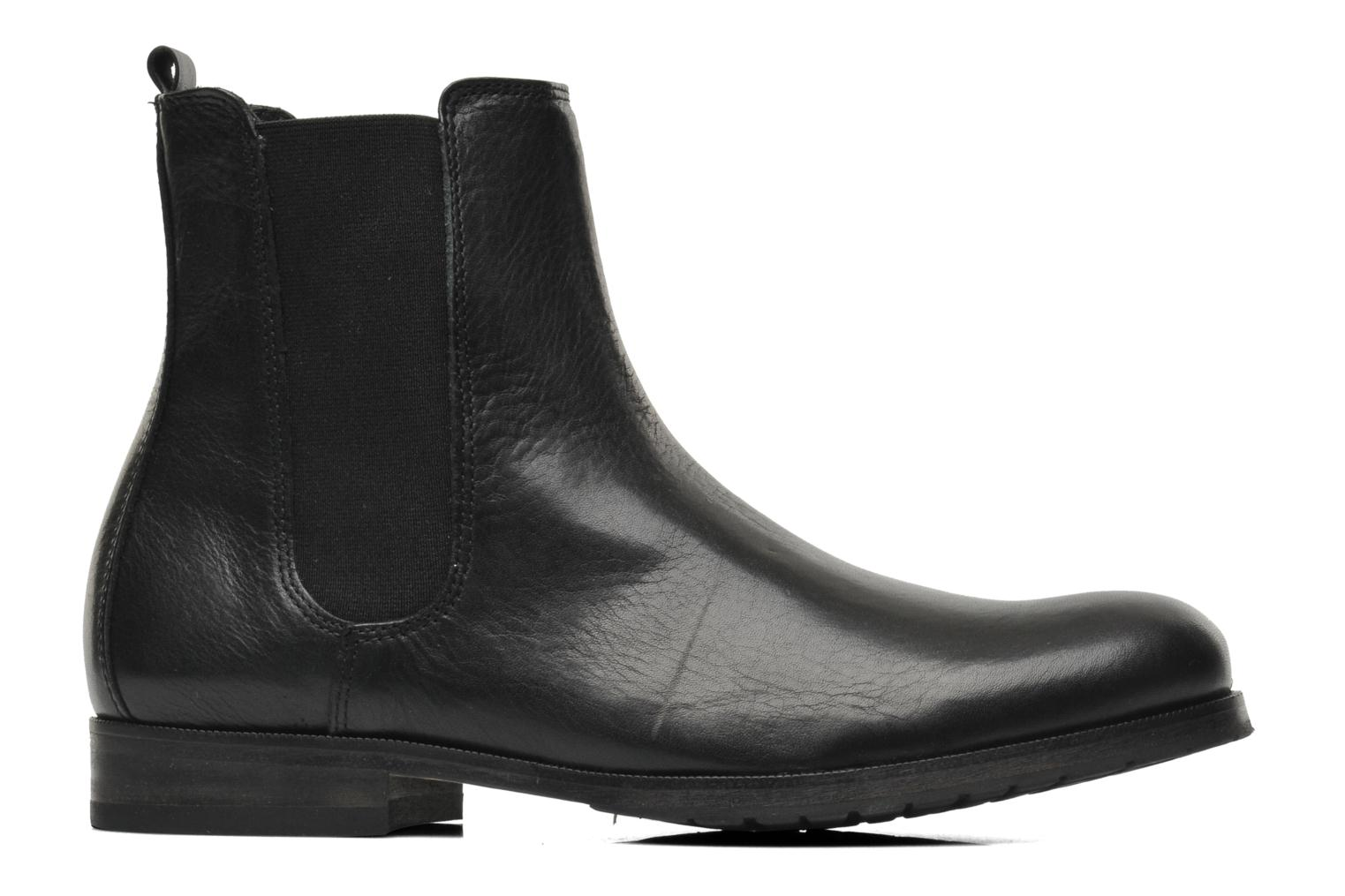 Ankle boots Royal Republiq Ave Cross Chelsea Boot Tweed Black back view