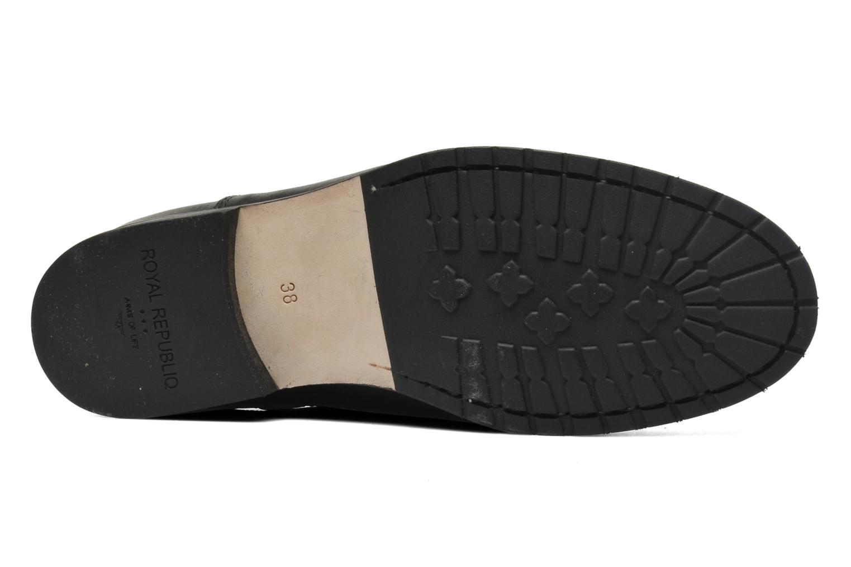 Bottines et boots Royal Republiq Ave Cross Chelsea Boot Tweed Noir vue haut