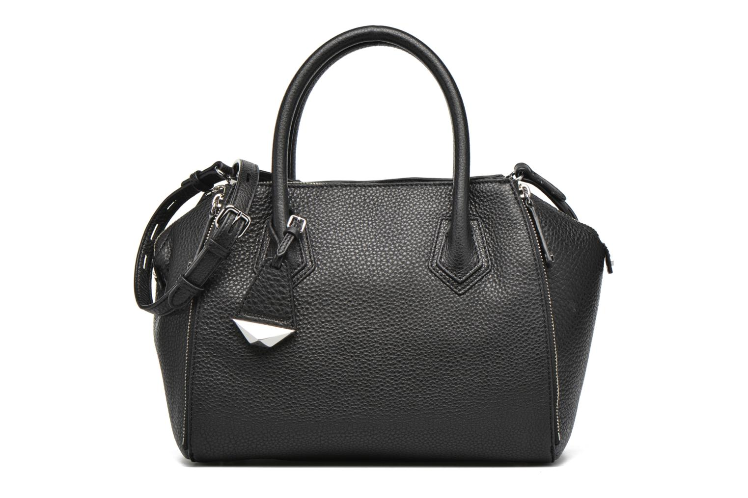 Mini Perry Satchel Black- Silver