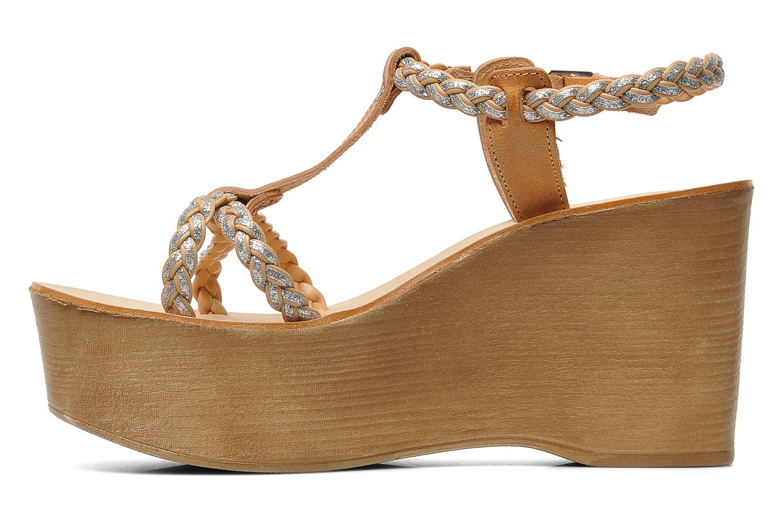 Sandales et nu-pieds Jonak Caroll Marron vue face