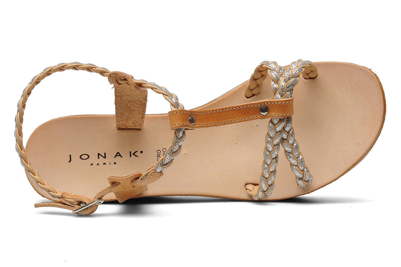 Sandales et nu-pieds Jonak Caroll Marron vue gauche