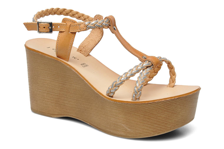 Sandales et nu-pieds Jonak Caroll Marron vue détail/paire
