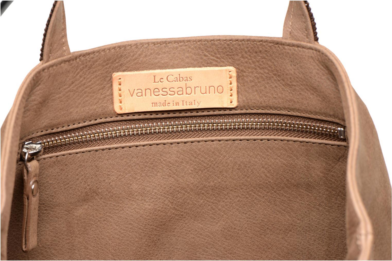 Handtassen Vanessa Bruno Cabas cuir nubucké paillettes M Bruin achterkant