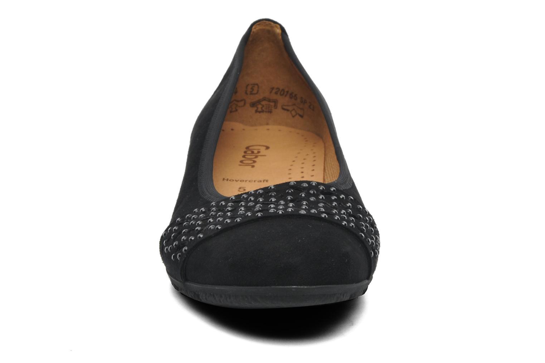 Ballerines Gabor Camillia Noir vue portées chaussures