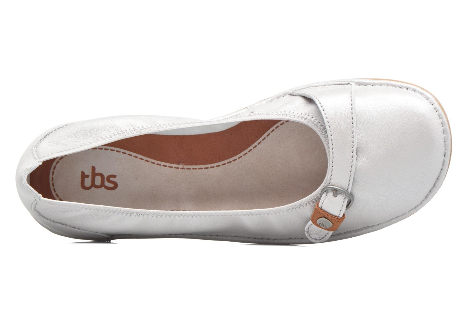 Ballet pumps TBS Maline White view from the left