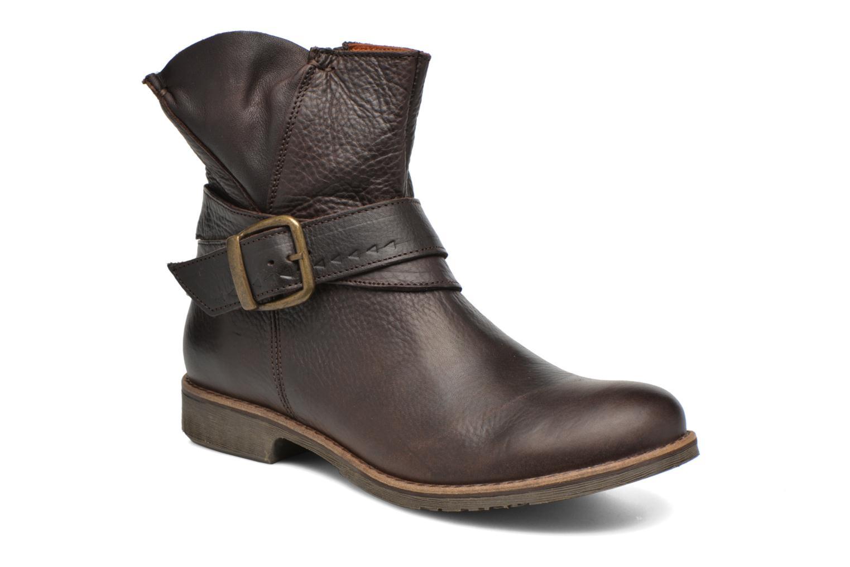 Bottines et boots TBS Marlie Marron vue détail/paire