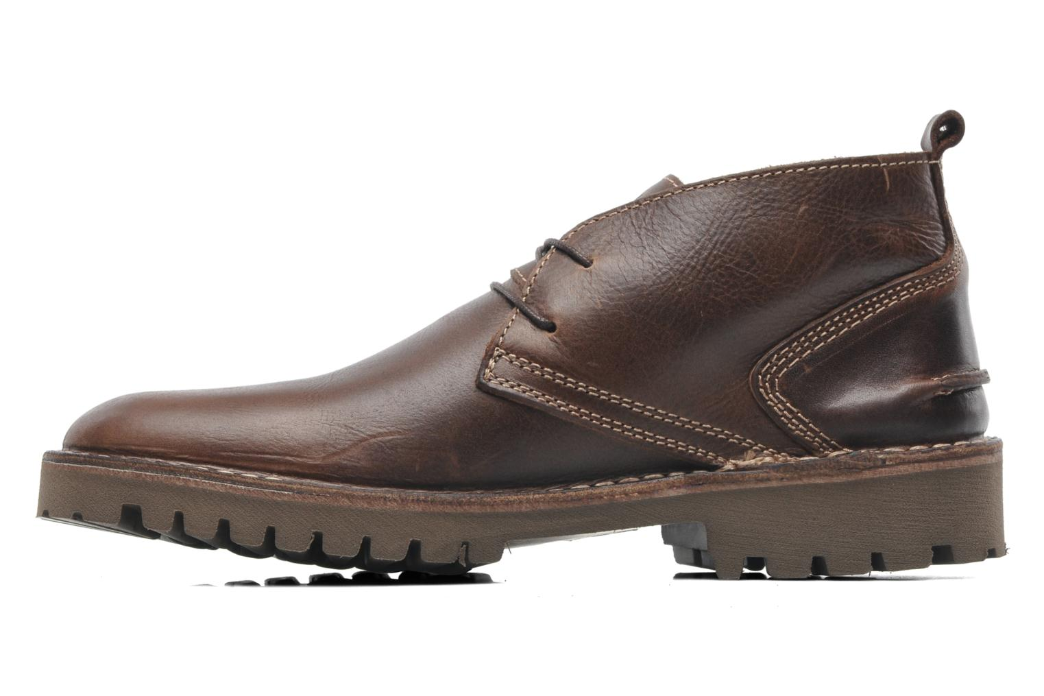 Lace-up shoes TBS Maxime Brown front view