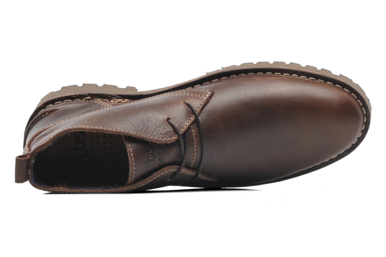 Chaussures à lacets TBS Maxime Marron vue gauche