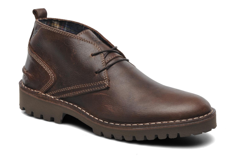 Chaussures à lacets TBS Maxime Marron vue détail/paire