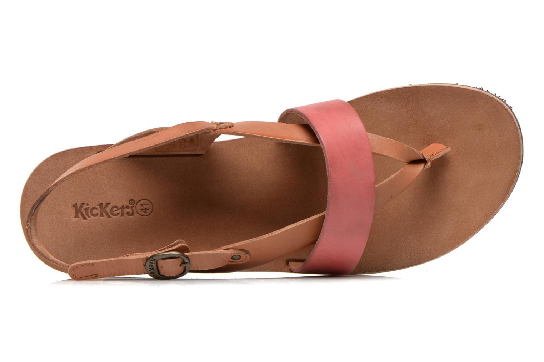 Sandales et nu-pieds Kickers spartong Rose vue gauche
