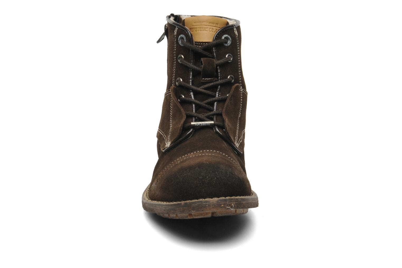Stiefeletten & Boots Pepe jeans Jack Booty Suede braun schuhe getragen