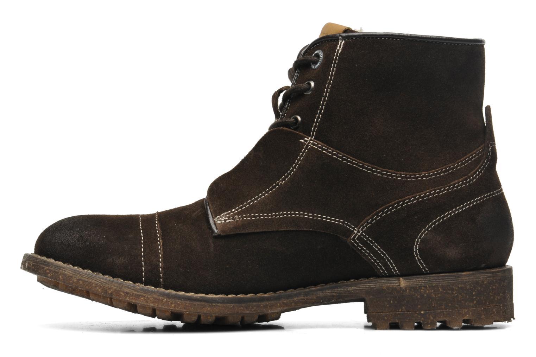 Boots en enkellaarsjes Pepe jeans Jack Booty Suede Bruin voorkant