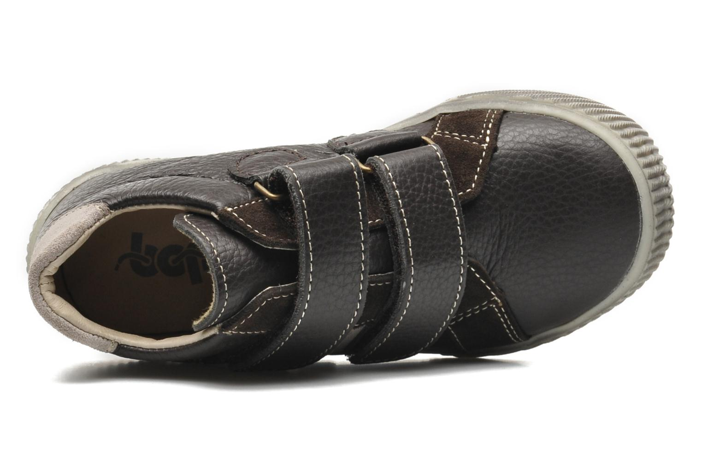 Chaussures à scratch Bopy VISTAR Marron vue gauche