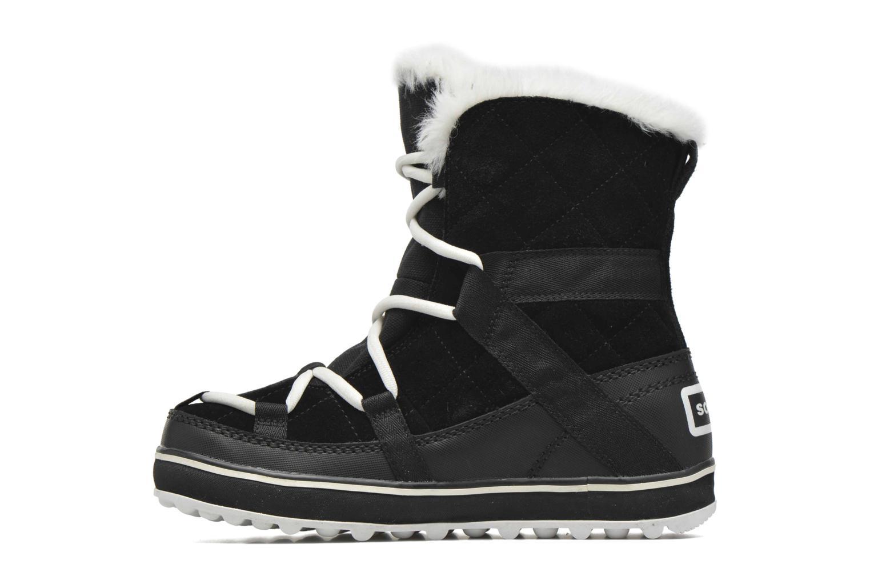 Sport shoes Sorel Glacy Explorer Shortie Black front view