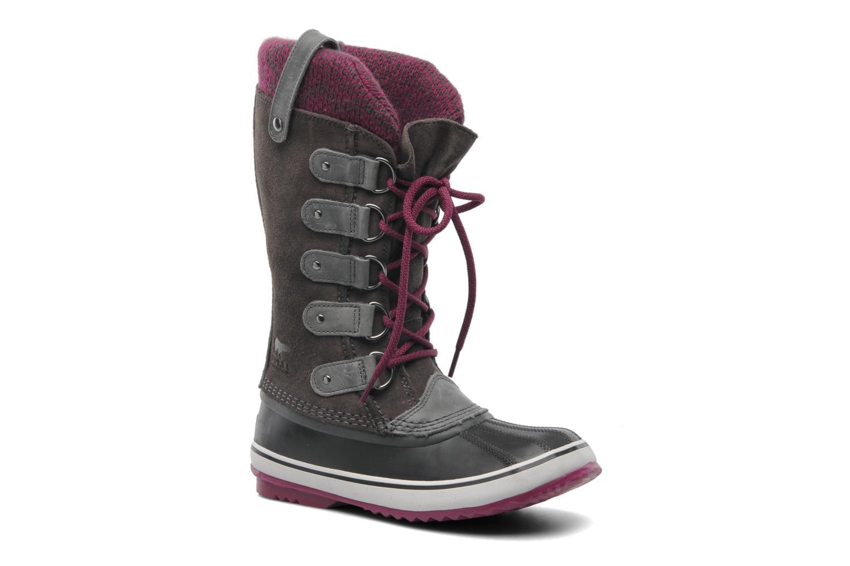 Chaussures de sport Sorel Joan Of Arctic Knit Gris vue détail/paire
