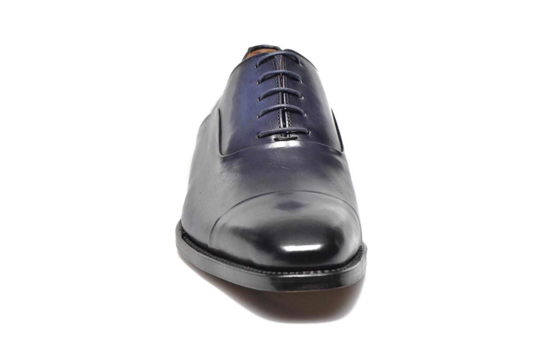 Scarpe con lacci Marvin&Co Luxe Weloofu - Cousu Goodyear Azzurro modello indossato