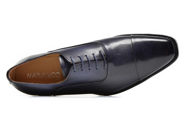 Scarpe con lacci Marvin&Co Luxe Weloofu - Cousu Goodyear Azzurro immagine sinistra