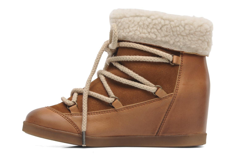 Bottines et boots Addict-Initial Didjeridou Marron vue face