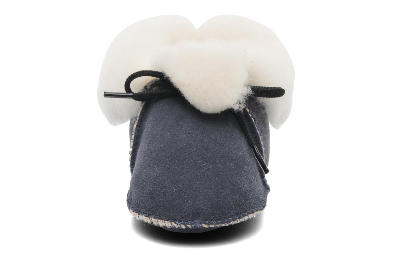 Pantofole Little Mary Bb Polaire Azzurro modello indossato
