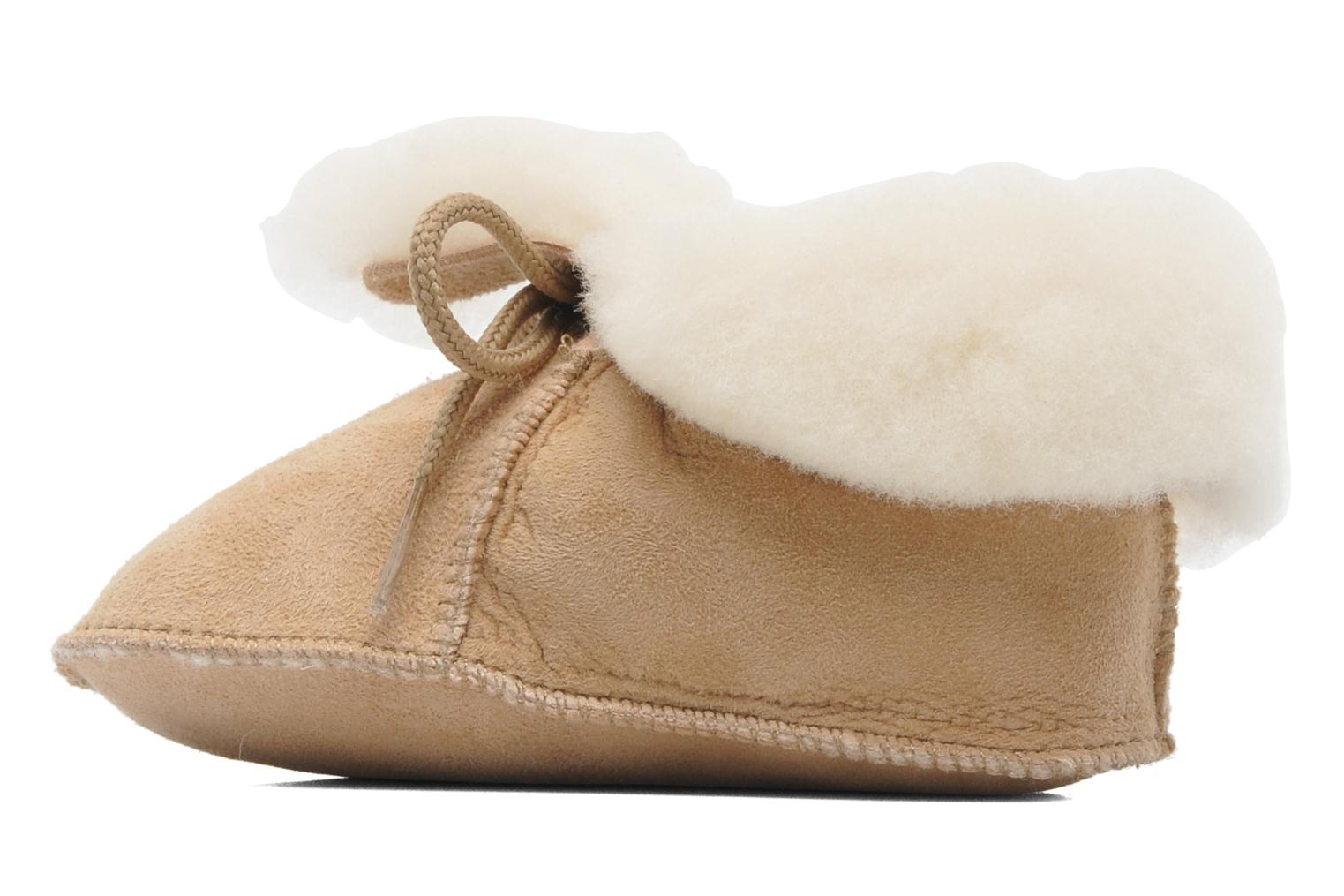 Chaussons Little Mary Bb Polaire Beige vue face