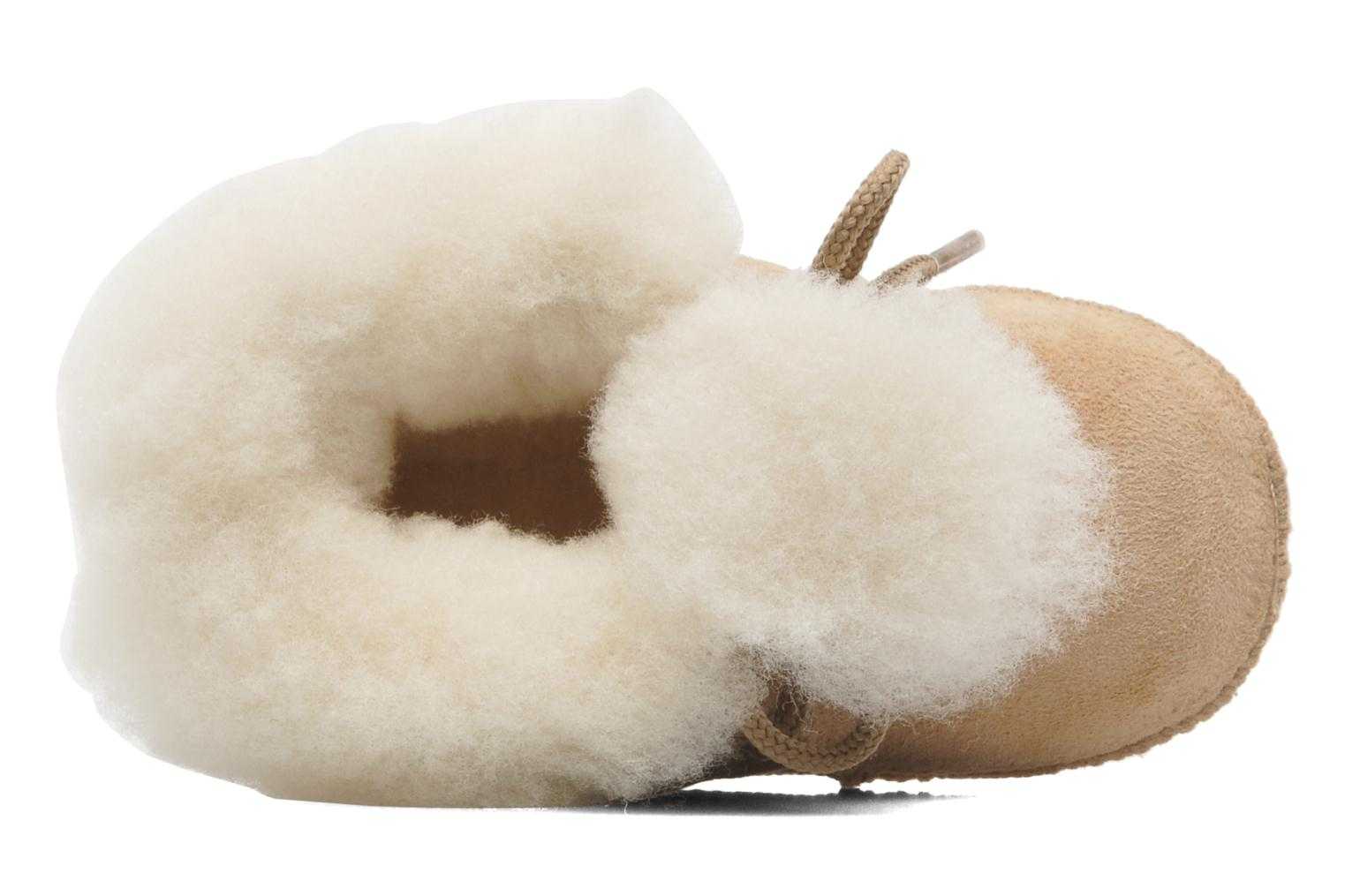 Chaussons Little Mary Bb Polaire Beige vue gauche