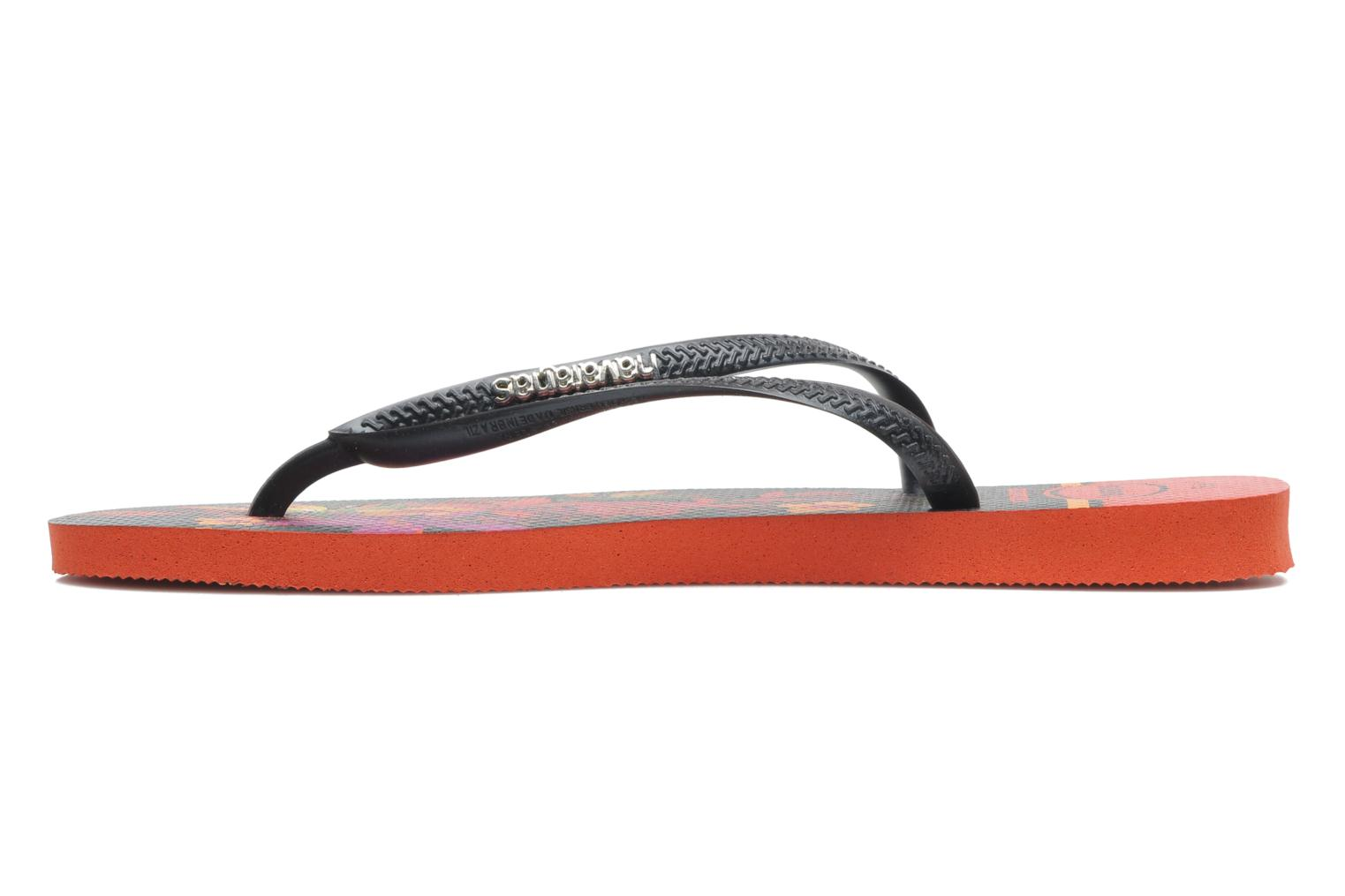 Tongs Havaianas Slim Tropical Noir vue face