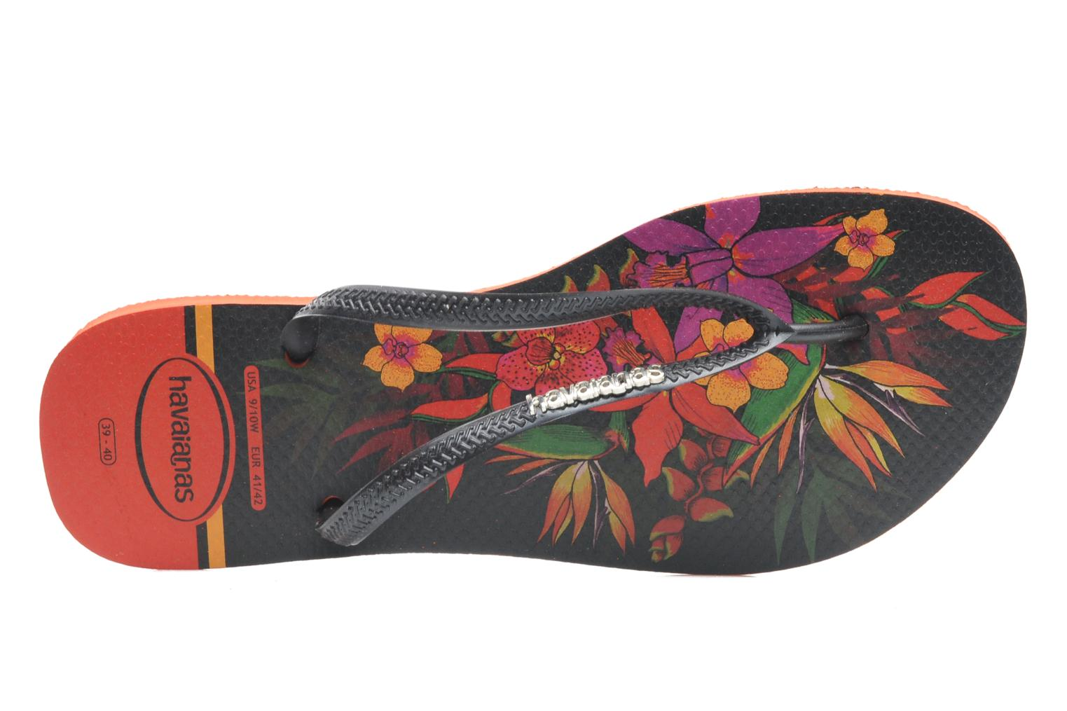 Tongs Havaianas Slim Tropical Noir vue gauche