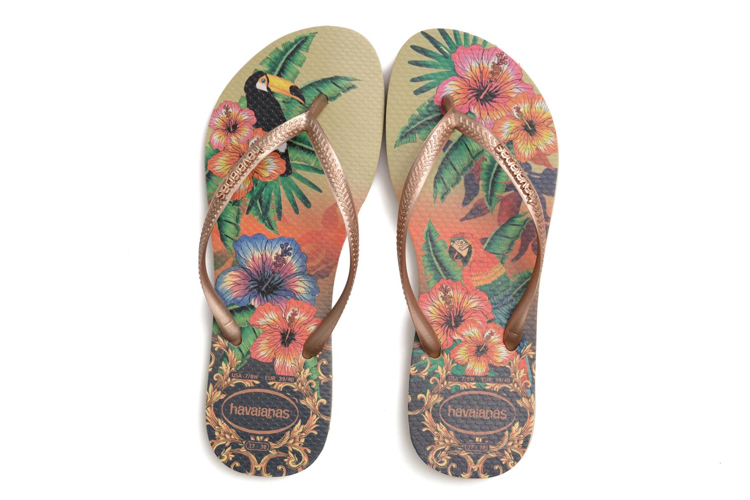 Tongs Havaianas Slim Tropical Multicolore vue 3/4