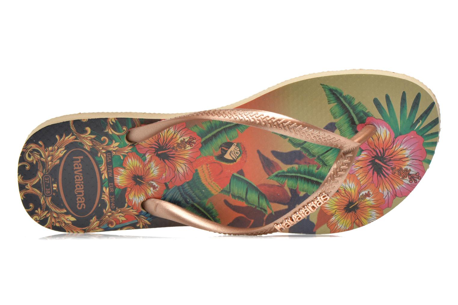 Tongs Havaianas Slim Tropical Multicolore vue gauche