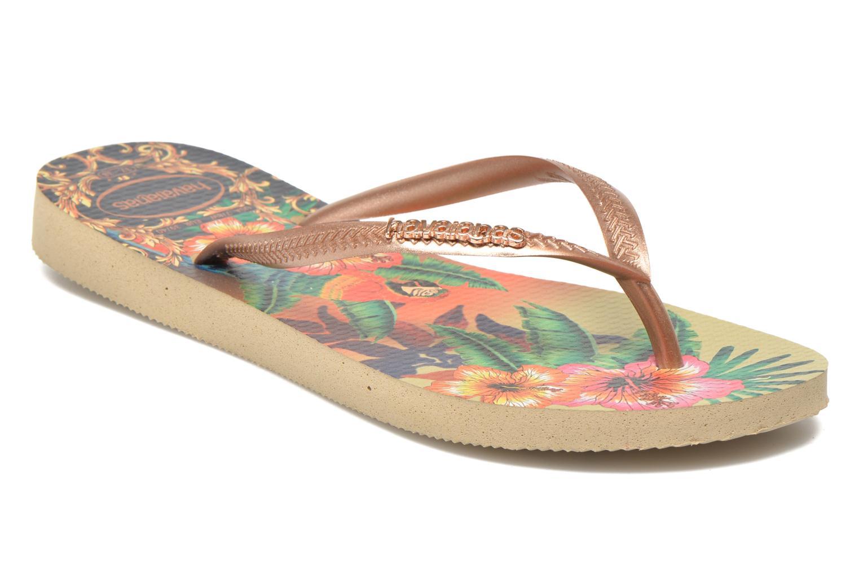 Zehensandalen Havaianas Slim Tropical mehrfarbig detaillierte ansicht/modell