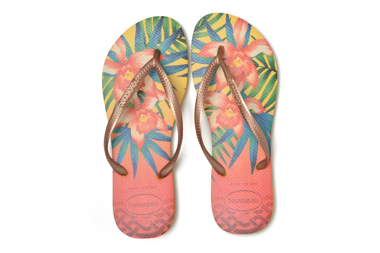 Tongs Havaianas Slim Tropical Jaune vue 3/4