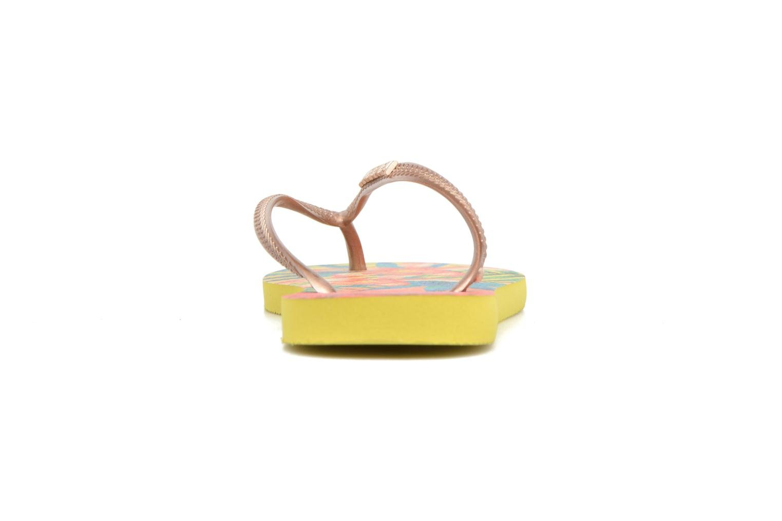 Tongs Havaianas Slim Tropical Jaune vue droite