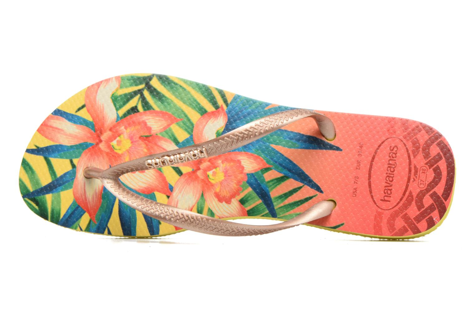 Tongs Havaianas Slim Tropical Jaune vue gauche