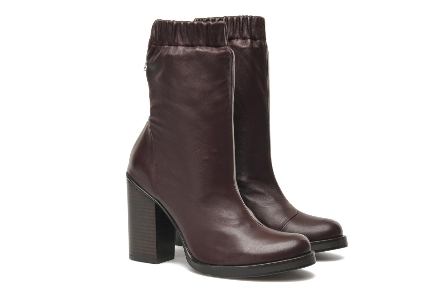 Bottines et boots Opening Ceremony Lucie Mid Boot Bordeaux vue 3/4